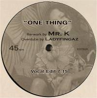 AMERIE - One Thing (Re-worked By Mr. K) : NOT ON LABEL (US)