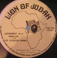 LEE PERRY - Judgement In a Babylon / One Drop : 12inch