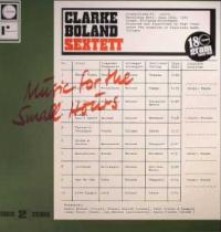 CLARKE BOLAND SEXTETT - Music For The Small Hours : REARWARD (ITA)