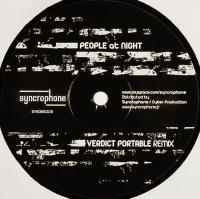 PEOPLE AT NIGHT - Verdict Portable remix : 10inch