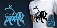 CONGO NATTY - White - Black Lion Logo : T-SHIRT