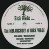 RICK WADE - The Melancholy Of Rick Wade : HARMONIE PARK (US)