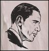 FRESH PRESSED - Obama T-shirt / Ash / Large : FRESH PRESSED (US)