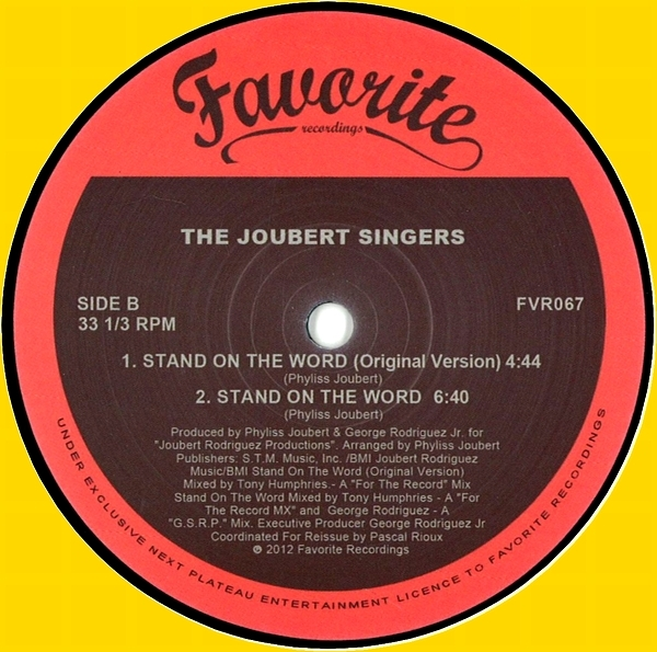 THE JOUBERT SINGERS - Stand On The Word : 12inch