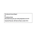 THROBBING GRISTLE - The Second Annual Report Of Throbbing Gristle : CD