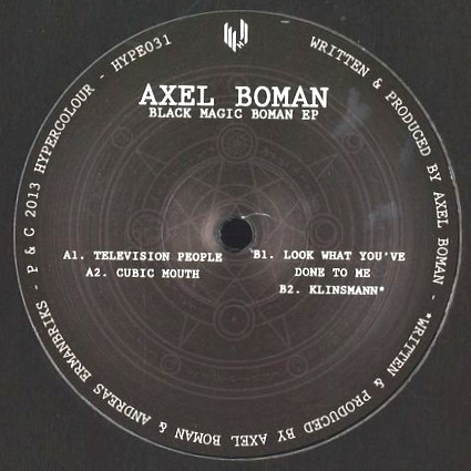AXEL BOMAN - Black Magic Boman EP (2016 REMASTER + RE RELEASE) : 12inch