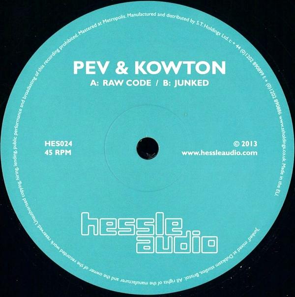 PEV & KOWTON - Raw Code / Junked : 12inch