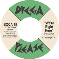 BOCA 45 - We're Right Here : 7inch