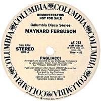 MAYNARD FERGUSON - Pagliacci / Primal Scream : 12inch