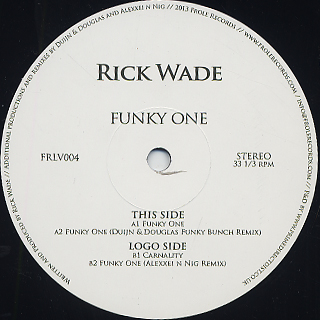 RICK WADE - Funky One : 12inch