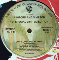 ASHFORD & SIMPSON - Don't Cost You Nothing / Bourgie Bourgie : 12inch