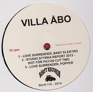 VILLA ABO - Love Surrender : 12inch