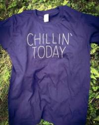 CHILLIN`TODAY.. - CHILLIN`TODAY..T Shirt Indigo Blue  Size Junior 160 : T SHIRT