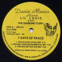 LIL LOUIS AND THE DIAMOND CORP. - 7 Days Of Peace / War Games : 12inch
