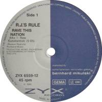 R.J.'s Rule - Rave This Nation : ZYX (GER)
