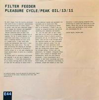 FILTER FEEDER - Pleasure Cycle/Peak Oil/13/11 : 12inch
