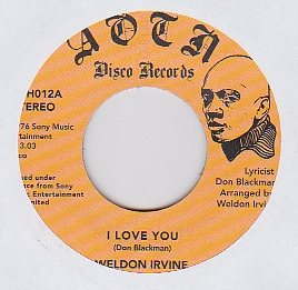 WELDON IRVINE - I Love You : 7inch