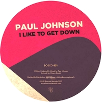 PAUL JOHNSON - I Like To Get Down (LTD. One-Side Press) : 12inch