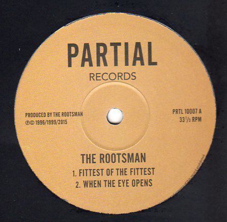 THE ROOTSMAN - Fittest of the Fittest / Only Jah : 10inch