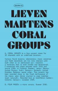 LIEVEN MARTENS - Coral Groups : Cassette