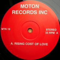 VARIOUS - Rising Cost Of Love : MOTON (UK)