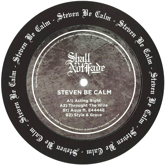 STEVEN BE CALM - Actin' Right : 12inch