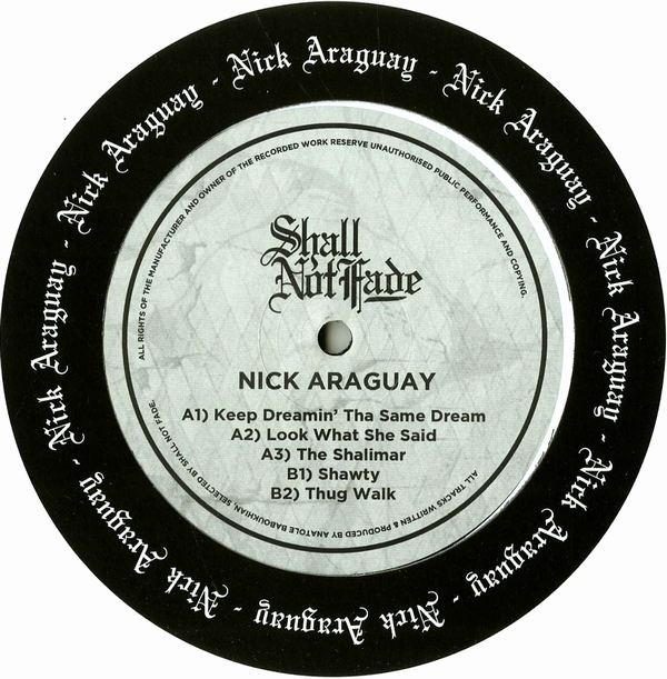 NICK ARAGUAY - Keep Dreamin' Tha Same Dream : 12inch