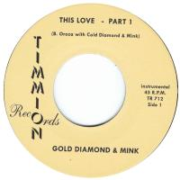 COLD DIAMOND & MINK - This Love (Instrumental) : 7inch