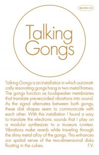 FLORIS VANHOOF - Talking Gongs : Cassette + DOWNLOAD CODE