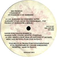 VARIOUS - L'Humour EP (Un Hommage A Luc Marianni) : 12inch