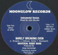 UNIVERSAL ROBOT BAND - Barely Breaking Even : 12inch