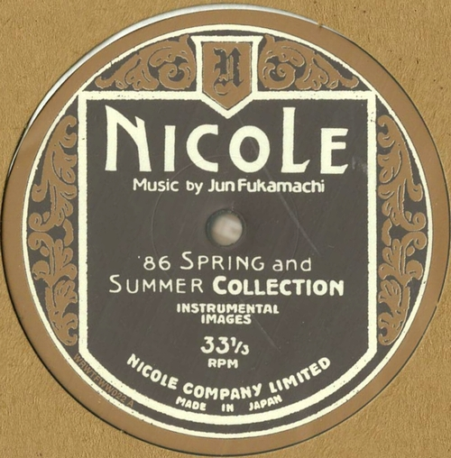 JUN FUKAMACHI - Nicole  Nicole (86 Spring And Summer Collection - Instrumental Images) : LP