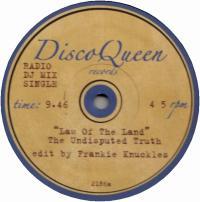 FRANKIE KNUCKLES EDITS - Disco Queen #2186 : DISCO QUEEN (US)