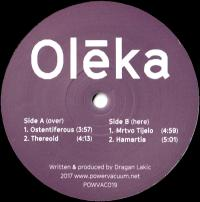 OLĒKA - Ostentiferous : POWER VACUUM (UK)