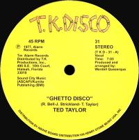 TED TAYLOR - GHETTO DISCO : 12inch