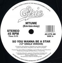 MTUME - So You Wanna Be A Star (Danny Krivit Edit) : 12inch