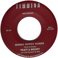 PRATT & MOODY - Words Words Words (feat. Cold Diamond & Mink) : 7inch