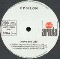 EPSILON - Leave The City / Wake Up : 12inch