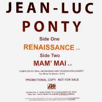 JEAN-LUC PONTY - Renaissance / Mam' Mai : 12inch