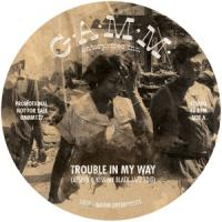 AFSHIN AND KISS MY BLACK JAZZ - Trouble In My Way / The Riot : 12inch