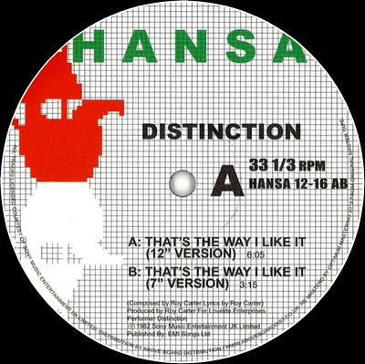 DISTINCTION - THAT'S THE WAY I LIKE IT : HANSA (GER)