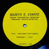 MARYN E. COOTE - Welcome To My World : PEOPLES POTENTIAL UNLIMITED (US)
