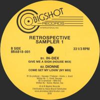 VARIOUS ARTISTS - Big Shot Records Retrospective Sampler 1 : 12inch