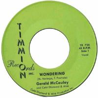 GERALD MCCAULEY & COLD DIAMOND & MINK - Wondering : 7inch