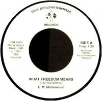 A.M. MUHAMMAD - What Freedom Means / Tenderly : 7inch