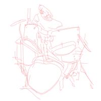 PEDER MANNERFELT / LUMIGRAPH / CIENFUEGOS / EVA GEIST - drums : 12inch