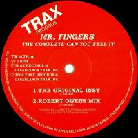 MR. FINGERS - The Complete Can You Feel It : 12inch