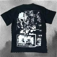 goat - goat T-shirt3 シルバーペンキプリント: XL size : T-SHIRT