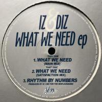 IZ & DIZ - What We Need EP : SILVER NETWORK (FRA)