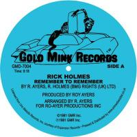 RICK HOLMES - Remember To Remember : 12inch